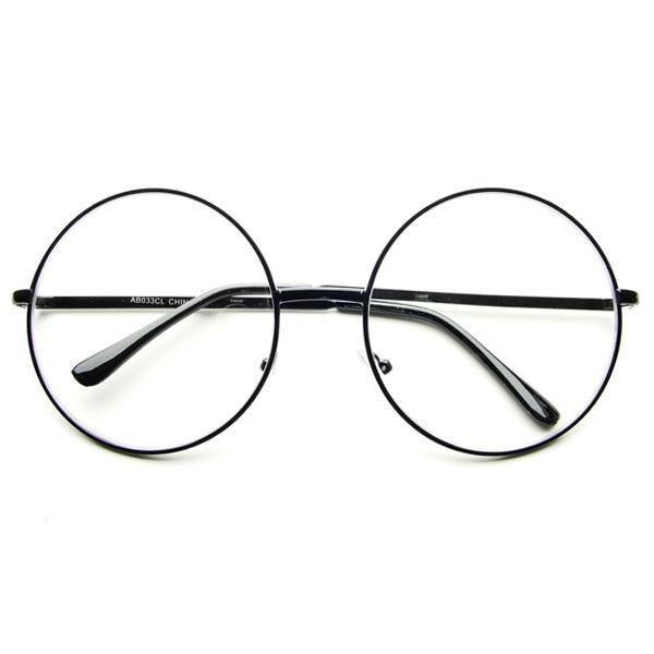 Oversized Large Clear Lens Retro Round Circle Glasses ...