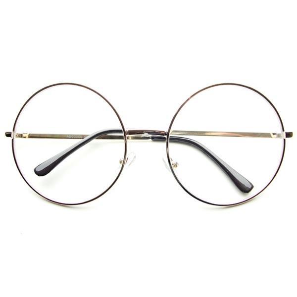 Retro Large Oversized Clear Lens Round Eyeglasses Glasses ...