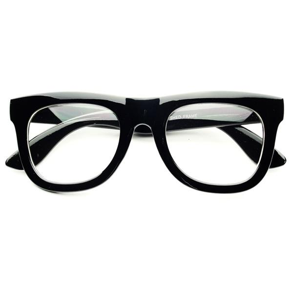 Glasses Frames Thick Black : Clear Lens Thick Framed Retro Fashion Wayfarer Glasses ...