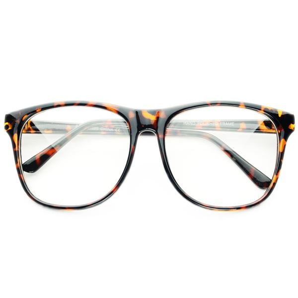 Clear Lens Nerd Geek Retro Extra Large Wayfarer Eye ...