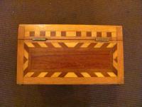Antique American Folk Art Jewelry Box Circa 1890
