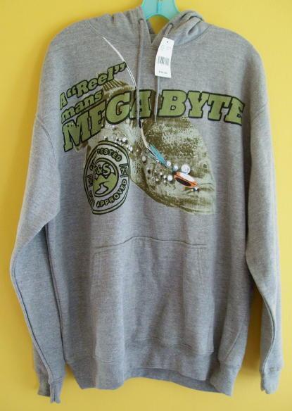 Nwt mens field stream fly fishing hoodie sweatshirt l for Fly fishing hoodie