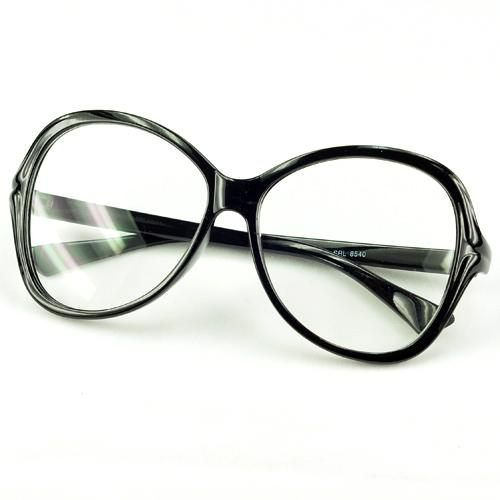Big Frame Clear Lens Glasses : CLEAR LENS BLACK LARGE FRAME Goggles GLASSES Sunglasses eBay