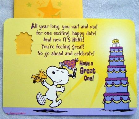 Snoopy Happy Birthday Its Your Card