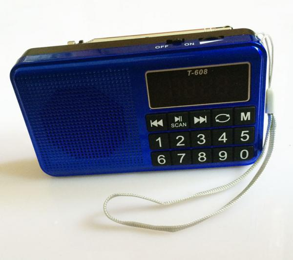 Led Screen Fm Sw Mw Radio Usb Tf Mp3 Player Big Keypad