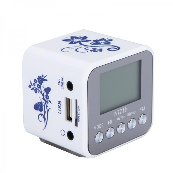 nizhi tt 032a lcd display alarm clock digital speaker fm radio usb tf mp3 pla. Black Bedroom Furniture Sets. Home Design Ideas