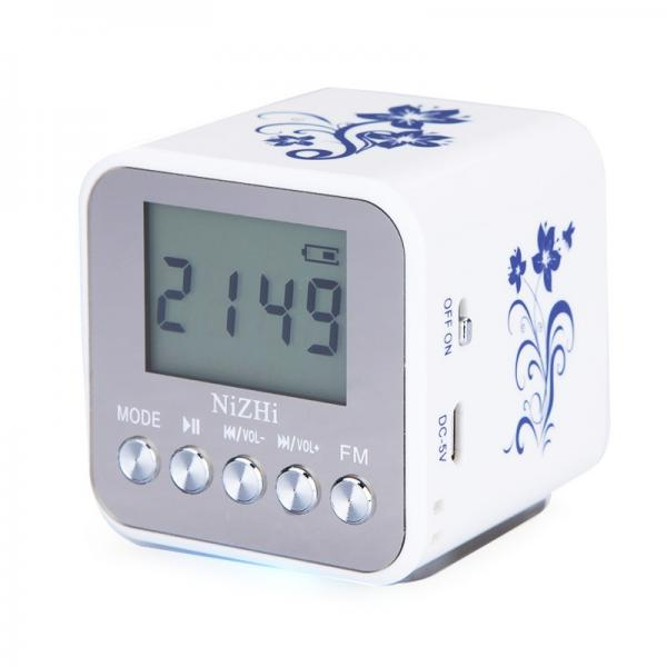 nizhi tt 032a lcd display alarm clock digital speaker fm radio usb tf mp3 player ebay. Black Bedroom Furniture Sets. Home Design Ideas