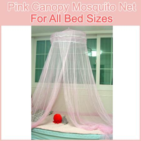 Princess  Canopy Ebay on Mosquito Net Princess Pink Canopy All Bed Sizes New   Ebay