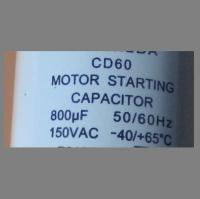 110 VAC 400MFD 50//60Hz  UL listed MOTOR STARTING CD60 Capacitor 110VAC 400uF
