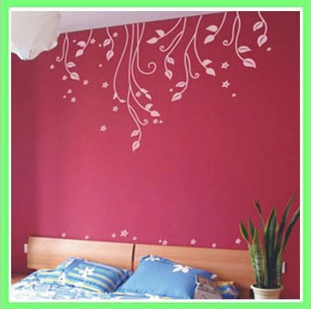 Flower in Wind Wall Decal Living Room Sticker Wallpaper Decal