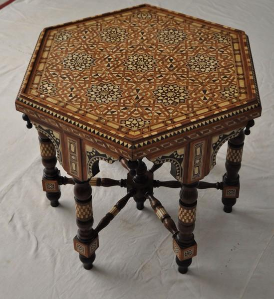 Moroccan Mother Of Pearl Inlaid Wood Coffee Table Ebay