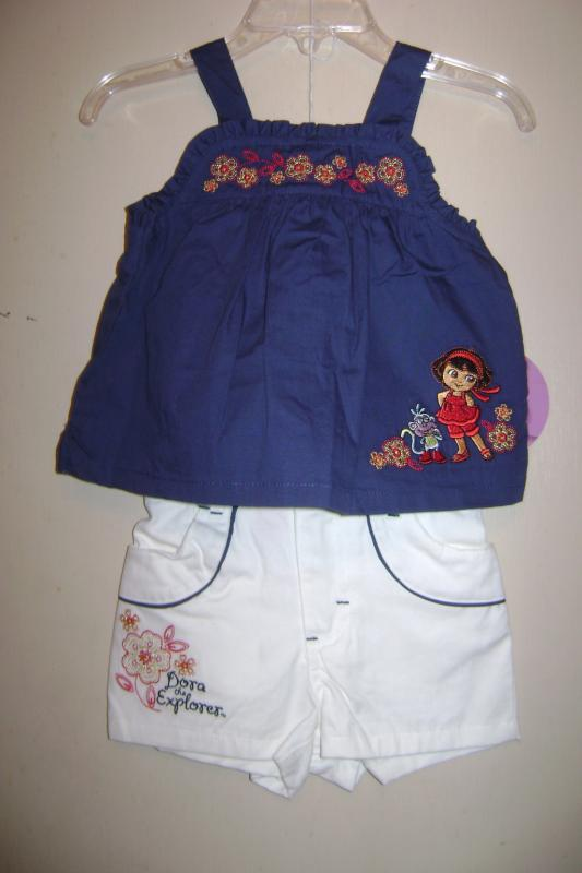 Dora Explorer Toddler Girls 2 Pc Short Set 2T/2 NWT