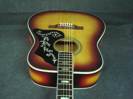 vintage univox acoustic guitar sunburst w pickguard design made in japan mij ebay. Black Bedroom Furniture Sets. Home Design Ideas