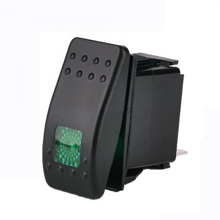 3 tlg 12v 20a kfz auto gr n led beleuchtet schalter ein aus wippenschalter ebay. Black Bedroom Furniture Sets. Home Design Ideas