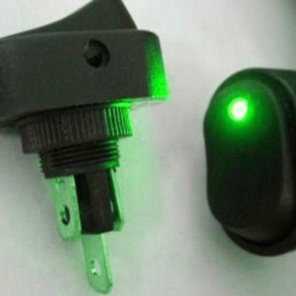 5 X Auto 12V 30A schwere Grün LED OFF ON Wippschalter Kippschalter WYS