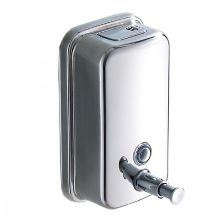 Bath stainless steel soap shampoo dispenser lotion pump action wall mounted ebay - Wall mounted shampoo and conditioner dispenser ...