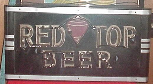 Vintage Red Top Beer Neon Sign Cincinnati Regional