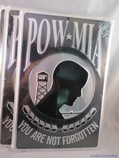 Details about WHOLESALE LOT OF 6 POW MIA SIGNS Made in USA Military Vietnam  War Embossed Tin
