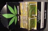 WHOLESALE BOX of POT MARIJUANA CARDS Inline hemp art cannabis gold lot