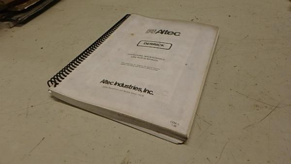 ALTEC DIGGER DERRICK OPERATORS & PARTS MANUAL Ci118 | eBay