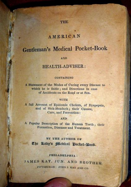 1833 American Gentleman S Medical Pocket Book 1sted American