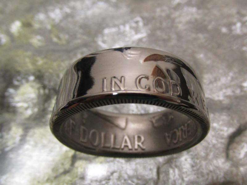 how to make a ring out of a half dollar