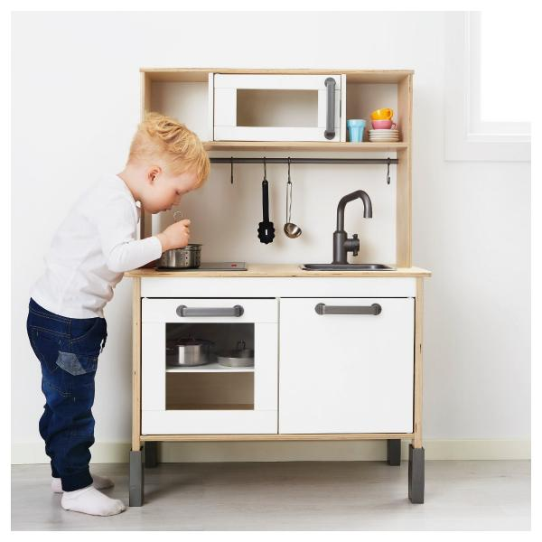 Ikea Duktig Kids Play Wooden Kitchen Bench Oven Sink Children