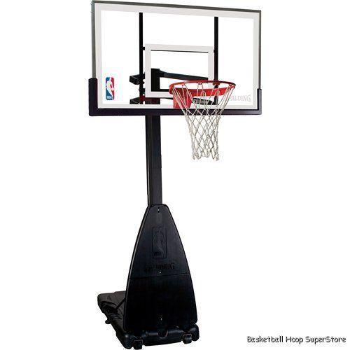 Spalding 68454 Portable Basketball System 54 Backboard | eBay