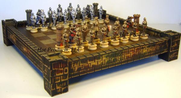 Medieval times warrior chess set 17 castle board ebay - Medieval times chess set ...