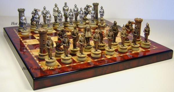 Medieval times warrior large chess set 18 gloss board ebay - Medieval times chess set ...