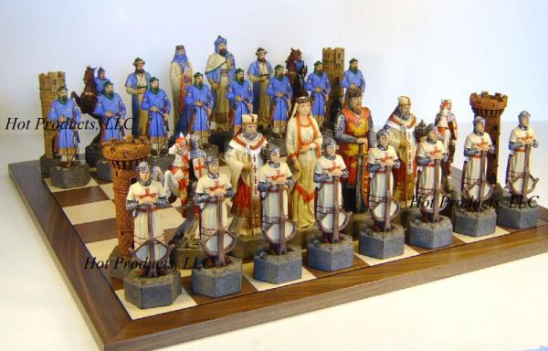 Medieval times crusades x large 6 5 king chess set ebay - Medieval times chess set ...