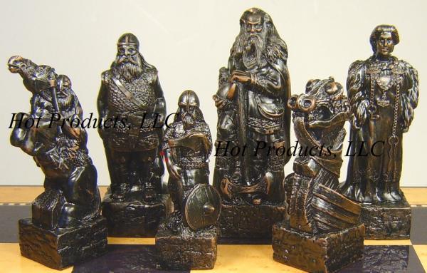 Medieval times irish celtic viking chess set board - Medieval times chess set ...