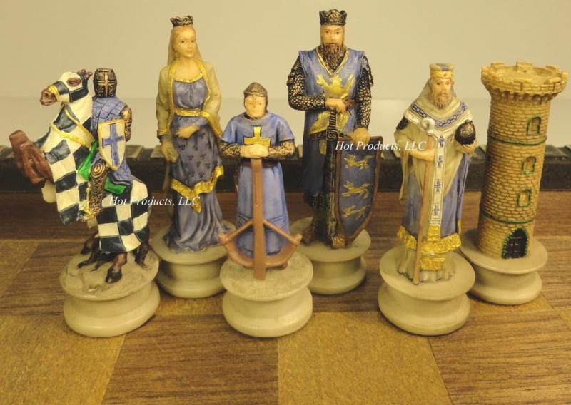 Medieval times crusades knights chess men set crusade no board ebay - Medieval times chess set ...