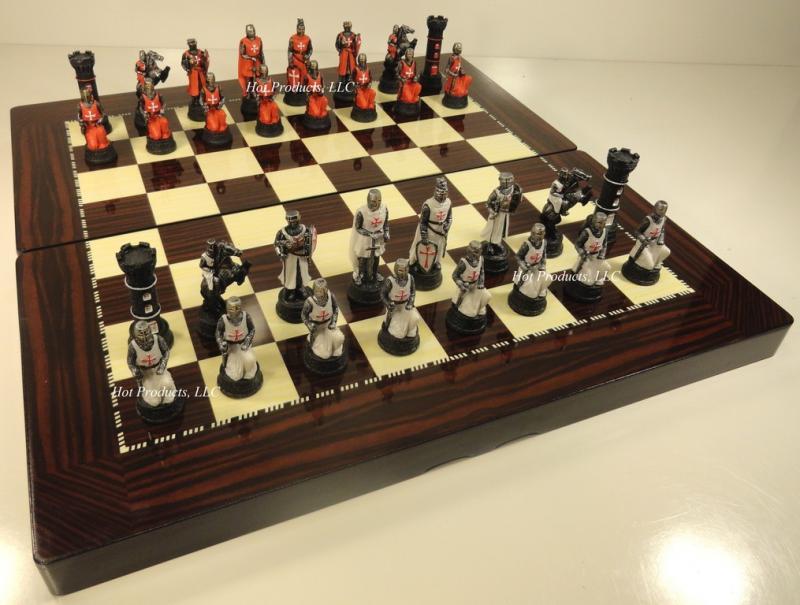 Medieval times crusades warrior chess set 19 high gloss backgammon board ebay - Medieval times chess set ...