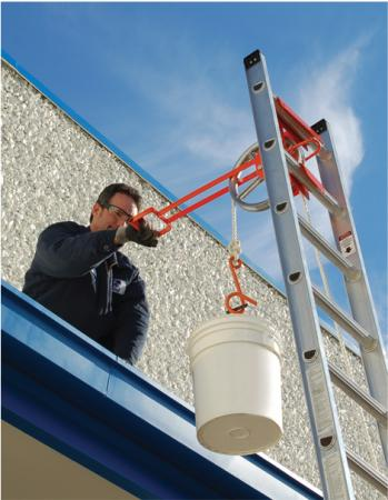 Ladder Hoisting Wheel Lifting Wheel W Long Handle Roof