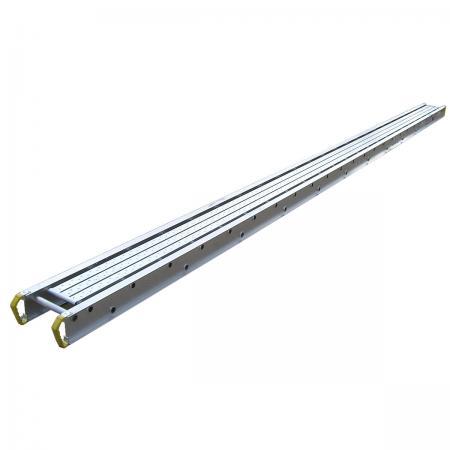 "Werner 2420 20' LX14"" w Aluminum Plank Stage Catwalk Ladder Jack 500..."