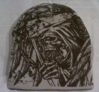 DEATH RIBS Baseball Cap Distressed with Metal Clasp//Bones//Metal//Biker//Skulls