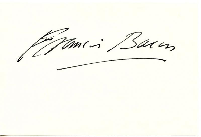 Francis Bacon Authentic Original Signed Card Autographed