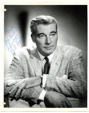 William Hopper William Hopper Perry Mason Star Vintage 1960 Signed Photo