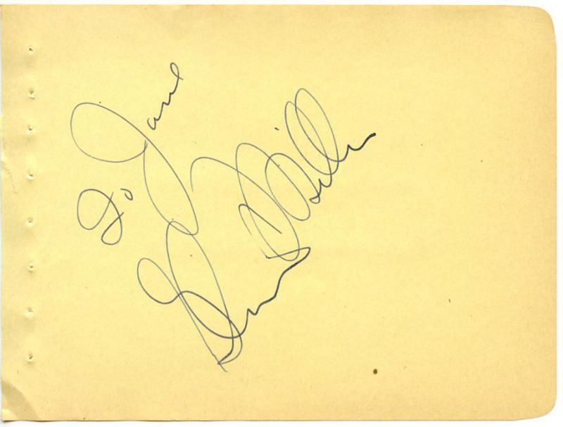 VINTAGE 1930s SIGNED ALBUM PAGE AUTOGRAPHED JAZZ BIG BAND LEADER