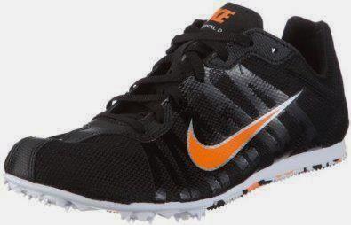 Orange And Black Sprinting Shoes