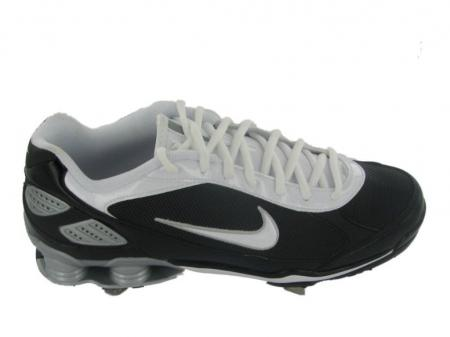 best service 646f2 2b40b Get Quotations · Nike Shox Monster Metal-BKWH Baseball Cleats  Click here  to Enlarge ...