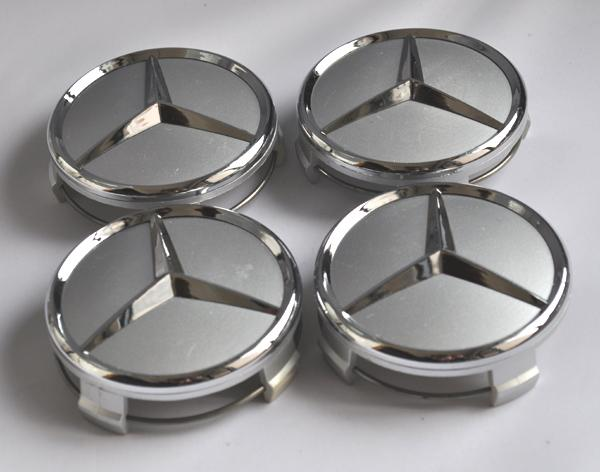 4 mercedes benz 3d emblem badge wheel center hup caps