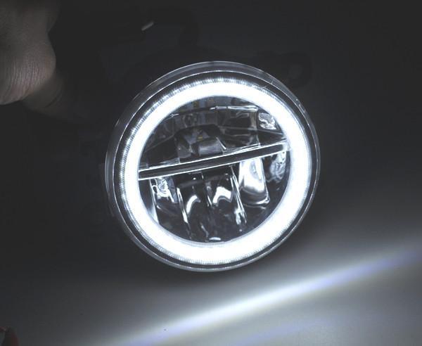2x Led Halo Fog Lights For Ford Fiesta Mk6 7 Focus Inc St