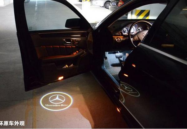 2 x laser led door courtesy shadow projector light for for Mercedes benz projector lights