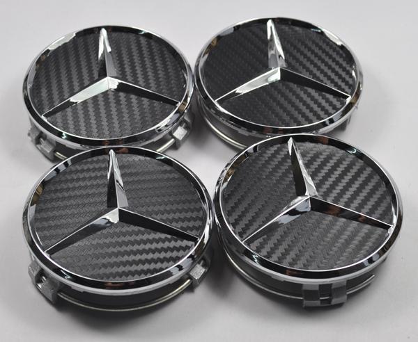 4x mercedes benz amg carbon fiber wheel center caps covers for Mercedes benz wheel covers