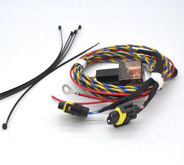 Set L U0026r Fog Light Wiring Harness Kit 9006 For Vw Golf