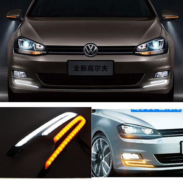 2x led drl feux de jour diurne lampe eclairage daylight pour vw golf 7 mk7 14 15 ebay. Black Bedroom Furniture Sets. Home Design Ideas