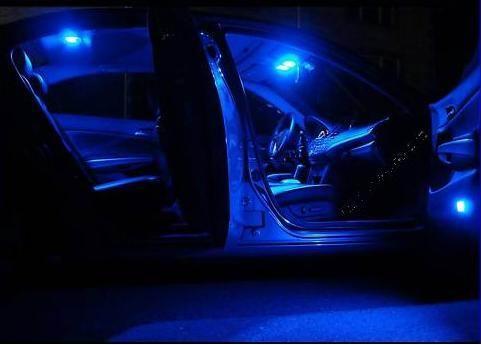 5pcs Bright Blue Led Lights Interior Package Kit Dodge