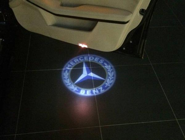 Mercedes benz door welcome projector puddle light led for Mercedes benz door lights